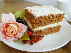 Marchewkowe z masą grysikową Vanilla Cake, Food And Drink, Health Fitness, Fitness, Health And Fitness