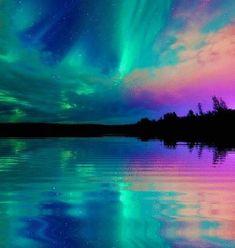 Reflections of a beautiful Aurora.