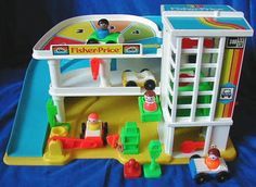 Little People Garage.  This was great, I really liked the elevator and ramp.