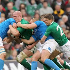 Ireland captain Paul O'Connell is supported by Ronan O'Gara as he drives forward during the second half of Saturday's Six Nations clash with Italy Irish Rugby, Six Nations, Songs To Sing, My Passion, Ireland, Two By Two, Italy, Dreams, Sport