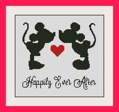Mickey & Minnie Mouse,Disney Cross Stitch Pattern, BOGO, PDF counted Disney cross stitch pattern,R060 by MagicStitching on Etsy https://www.etsy.com/listing/239159238/mickey-minnie-mousedisney-cross-stitch