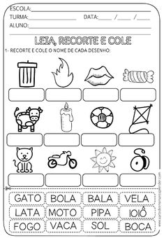 ATIVIDADE PRONTA - LEITURA Portuguese Lessons, Learn Portuguese, Fall Preschool Activities, Gabriel, Childhood Education, Learning Spanish, Learn To Read, Speech Therapy, Literacy