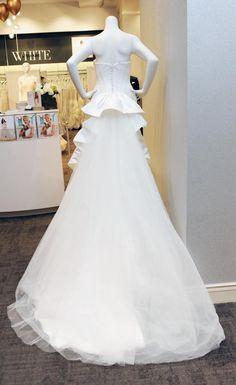 A Zac Posen wedding dress at David's Bridal.