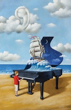 Revenge of the Interpretation, by Rafal Olbinski, 2013.