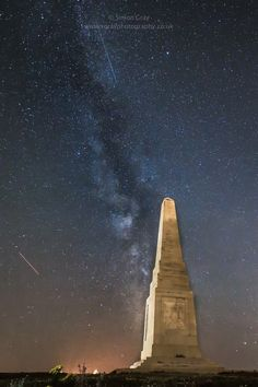 Nighttime shots for Monument in Sandown Isle of Wight and the Milky Way Available as an print mounted or unmounted