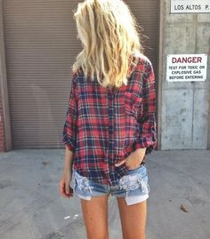 Haha i practically wore this exact outfit everyday last summer.... reminds me, i need more summer flannel. #gypsylife