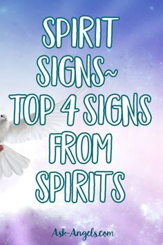 Have you ever wondered if your family members, who are now in spirit, are with you and trying to get your attention? Learn the top 4 signs from spirit.