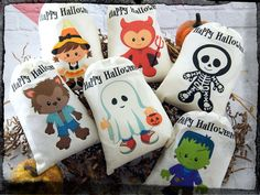 Personalized Halloween favor bags for kids' parties on Etsy