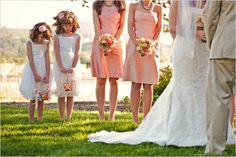 Sweet Flower Girls - LOVE the idea of getting shots of the kids during prayers