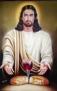 Jesús Pan y vino