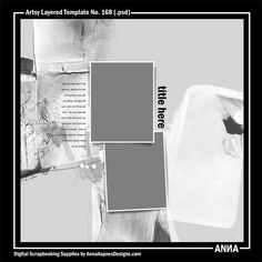 Oscraps :: Shop by Designer :: Anna Aspnes Designs :: Artsy Layered Template No. 168 #art #digitalart #scrapbook #photography #inspireanna
