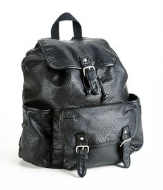 Faux Leather Backpack - Aeropostale