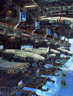 Ah, yes. Super coole Sci-Fi-Illu. Wäre toll, wenn das so ginge. Der Artist heißt Eagr, seine Website ist http://casernededessins.blogspot.co.at/