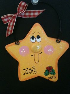 Star Personalized ornament Christmas Holiday tree by EvansCraftHut, $4.00