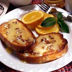 Baked Orange Pecan French Toast #frenchtoast #breakfast #brunch #farmeowned