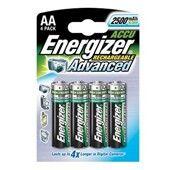 PILAS RECARGABLES AA HR6 (PACK 4 UDS) MARCA ENERGIZER (Pilas ecológicas de alto rendimiento)