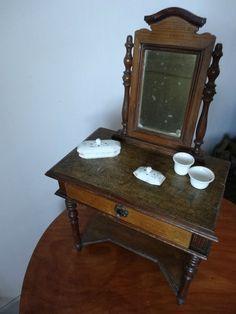 Petite table de toilette jouet ancien dinette ancienne
