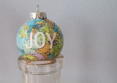 DIY Crafts - Christmas - Gift Ideas - World map ornaments. Find the map you need here http://www.mapsales.com/?utm_source=pinterest&utm_medium=pin&utm_campaign=caption