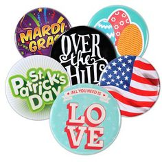 "2.25"" Round Button with Pin Backing and Mylar Coating"