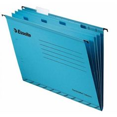 Cheap Stationery Supply of Esselte Classic Suspension File Divider Blue Foolscap 93135 Office Statationery