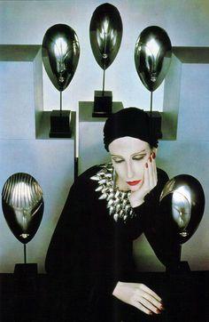"Serge Lutens for ""La Mode en Peinture"", 1983."