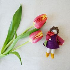 lovely tulips and jelly-beans - and these cute little felted friends as Easter giveaways! http://www.craftspring.com/product/take-a-little-piece-of-my-heart-girl/ $16.00