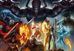 Galactus el Devorador de Planetas en su búsqueda interminable de mundos para alimentarse ha tenido que recurrir en más de una ocasión a un heraldo, un ser imbuido con parte de su poder cósmico, para q