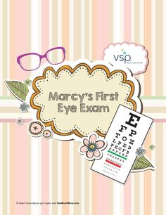 If your kids are nervous about going to the eye doctor, read them this story about Marcy's first eye exam! http://shout.lt/lLwj #kids #story #glasses