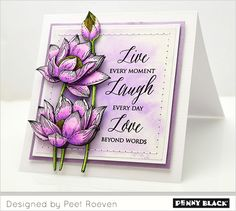 Featuring Penny Black stamps and dies... click through for supplies and instructions.