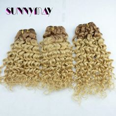 125.09$  Buy now - http://aliygp.worldwells.pw/go.php?t=32474974157 - #10T #16 Human Hair Extensions Curly Two Ombre Tone Color Hair Bundles Brazilian Human Virgin Hair Weft Curly 100g Human Weave
