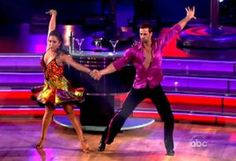 Dancing With The Stars 2012 final. William Levy and Cheryl Burke made the most of their return dance, the cha cha, getting a perfect score from the judges. Photo: ABC.