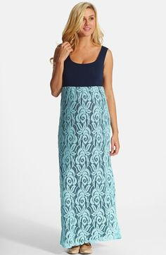PinkBlush Lace Maternity Maxi Dress available at #Nordstrom