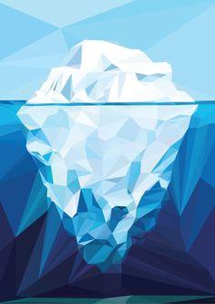 Iceberg-Polygon-Art-by-nasrul-razali,-via-Behance