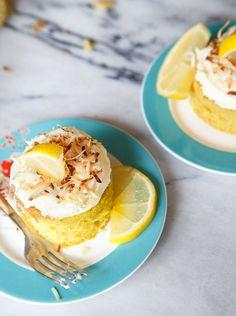 Mini lemon coconut cake recipe