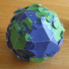 Create your own globe with this Earth Day paper craft. Crafts To Make, Crafts For Kids, Arts And Crafts, Paper Crafts, Paper Toys, Paper Art, Earth Day Activities, Scout Activities, Kindergarten Activities