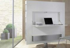 Work from home without turning your house or appartment in an office. A great concept by Gruber + Schlager. Desk on one side, TV on the other. http://www.designer-daily.com/10-awesome-multifunctional-furniture-perfect-small-spaces-47740