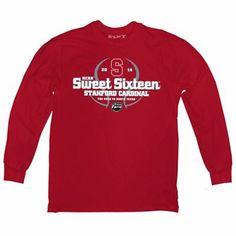 Stanford Cardinal 2014 Men's Basketball Tournament Sweet 16 Pro Long Sleeve T-Shirt - Scarlet