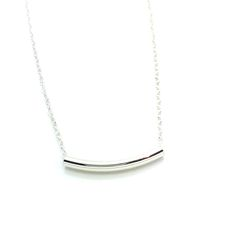 "Less is More 20 is a 20"" Long Necklace with a Simple 1"" Long Sterling Silver Tube Bead on Sterling Silver Chain. Very Simple, yet Elegant. Can be Purchased with ""Sister Necklaces"" in 16"" and 18"" Lengths to be Worn Together. Lobster Clasp. Product #15-066"