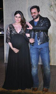 Kareena Kapoor Khan with her husband Saif Ali Khan Indian Maternity Wear, Cute Maternity Outfits, Stylish Maternity, Pregnancy Outfits, Maternity Fashion, Maternity Dresses, Pregnancy Dress, Maternity Style, Kareena Kapoor Baby