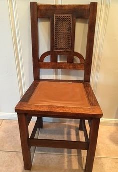 RARE Early Stickley Arts & Crafts Oak Dining Chair w Cane Back, Original…