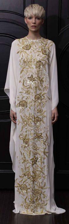 Naeem Khan Resort 2013, Abaya, bisht, kaftan, caftan, jalabiya, Muslim Dress, glamourous middle eastern attire, takchita