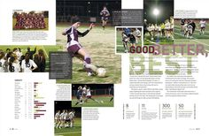 This is a cool idea for the sports section. We can use a variety of photos to show what the team has done throughout the year.