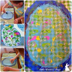 "Printmaking Easter Eggs - Good art to go along with Jan Brett's ""The Easter Egg"""