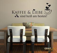 Best  Wandtattoo Kaffee Spruch Deko K che
