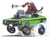 "1971 Dodge Demon ""Screamin Demon"" by Vince Crain"
