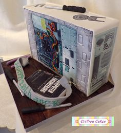 Computer Cake, Engineering Cake, Fake Wedding Cakes, Present Cake, Different Cakes, Loaf Cake, Unique Cakes, Happy Birthday Cakes, Cake Toppings