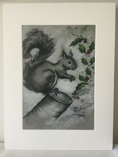 S Bird Illustration, Pastel Drawing, Squirrel, Objects, Drawings, Inspiration, Image, Art, Sketches
