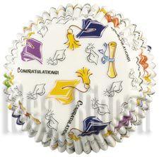 75 - Graduation Standard Baking Cups Pack of 75 - IdeaRibbon.com
