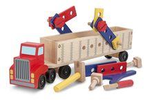 Este tractor-remolque está listo para rodar. . . y listo para construir