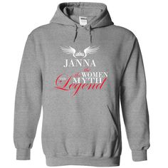 JANNA THE WOMAN THE MYTH THE LEGEND HOODIE  This shirt is for you! Tshirt, Women Tee and Hoodie are available. 👕 GET YOUR here: https://www.sunfrog.com/JANNA-the-woman-the-myth-the-legend-lleskpqxbh-SportsGrey-53314028-Hoodie.html?id=57545